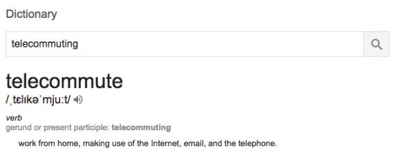 Telecommuting definition